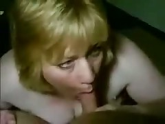 Mature busty woman kills guy, teasing his throbbing dick with her big wet mouth and long soft tongue.