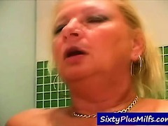 Watch this hot grandma pounding with a younger guy